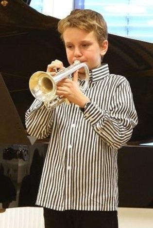 Edvard Johansen Usher – trompet/flügelhorn fra Bærum 13 år