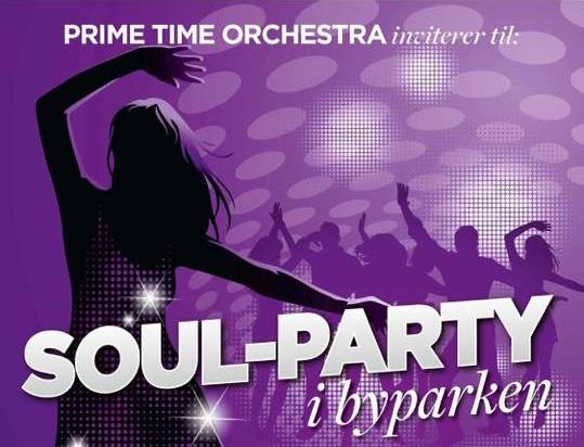 Soul-Party i byparken under Sandvika Byfest